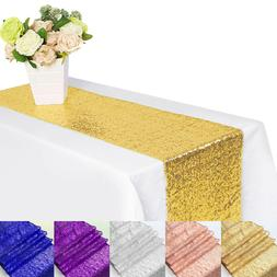 1/5/10Pc Sparkly Sequin Table Runners Wedding Party Banquet