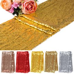 "1 5 10pcs Sequin Table Runners 12""x71"" Sparkle Glitter Weddi"