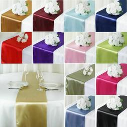 "12""x108"" Satin Table Runners Wedding Party Banquet Event Tab"