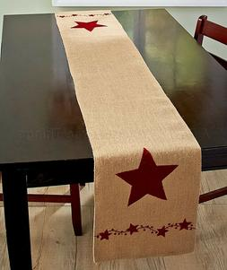 1 STAR TABLE RUNNER KITCHEN DINING ROOM COUNTRY BERRY FARM P