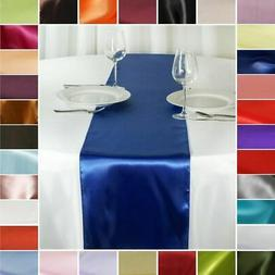 "10 pcs SATIN 12x108"" Table RUNNERS Wedding Party Reception C"