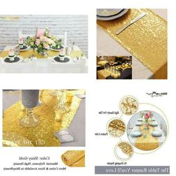10 Pieces-12 X108 Gold Sequin Table Runner Wedding Party Cat