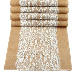 10burlap hessian lace table runner rustic country