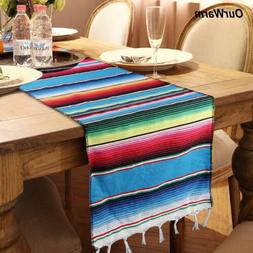 10×Mexican Serape Table Runner for Country Outdoor Wedding