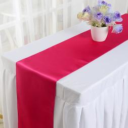 10PCS 30*275cm Satin <font><b>Table</b></font> <font><b>Runn