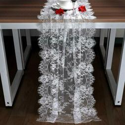 300cm White Lace Table Runner Floral Table Cloth Boho Weddin