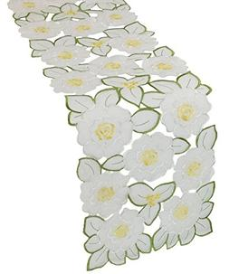 Xia Home Fashions 11 by 62-Inch Dainty Flowers Spring Table