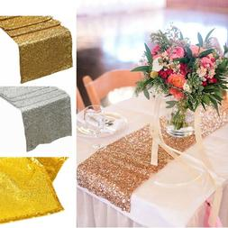 12'' x 72'' Sparkly Sequin Table Runner Party Decoration Chr