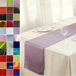 """12"""" x 108"""" Satin Table Runner Wedding Party Dinner Table Sup"""