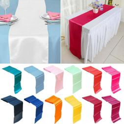 """12"""" x 108"""" Satin Table Runner Wedding Party Decorations Banq"""