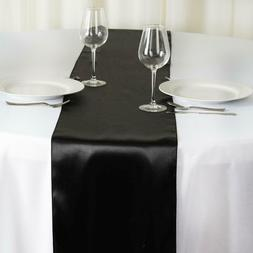 """12"""" x 108"""" Satin Table Runner Wedding Party Banquet Mult. Co"""