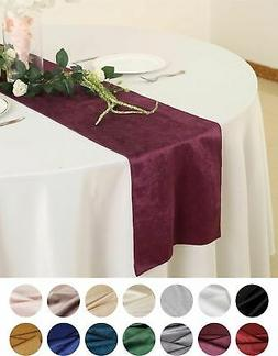 "12""x107"" Premium Velvet Table Runner Wedding Party Linens De"