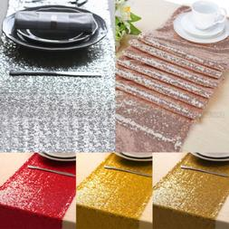 "12""x108"" / 118"" Sparkle Sequin Table Runner Glitter Wedding"
