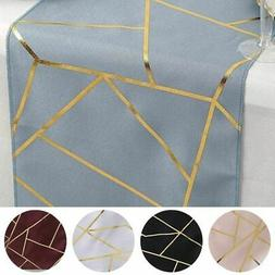 """12""""x108"""" Geometric Polyester Table Runner Wedding Party Deco"""