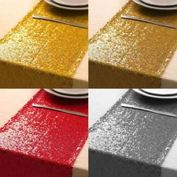 "12""x108"" Sequin Table Runner Sparkly Wedding Banquet Party V"