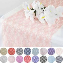 """12x108"""" Wedding LACE Flowers TABLE RUNNER Party Dinner Decor"""