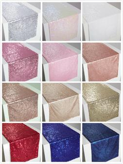 "12x90"" Sparkly Sequin Tablerunner Table Runner Birthday Wedd"