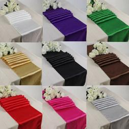 """13 Colors 12""""*108"""" Satin Table Runner Wedding Party Decorati"""