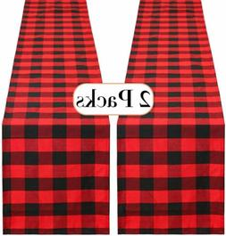 13 x 84 inch Buffalo Plaid Table Runner Cotton Table Linens