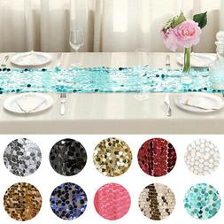 "13""x108"" Large Payette Sequin Table Runner Wedding Party Eve"