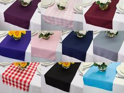 14 x 108 inch Polyester Table Runners, Multiple Colors & Mul