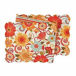 """14X51"""" Quilted SCALLOP RUNNER, GISELLE"""
