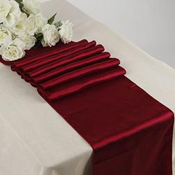 MDS Pack Of 30 Wedding 12 x 108 inch Satin Table Runner For