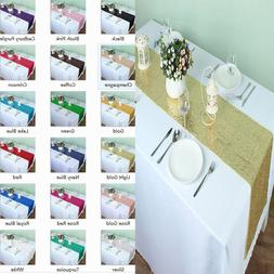 """2018 New 12"""" x 108"""" Choose Color Sparkly Sequin Table Runner"""
