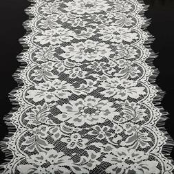 28cm*3m Table Runner or Doily White Lace Wedding Bouquet Ven