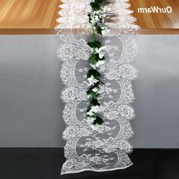 35X300cm Wedding Table Runner White Lace Runners Chair Sash