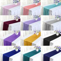 5 10 20 Wedding Party Satin Table Runner Banquet Dinner Part
