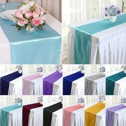 "5 10 20 x 12""x108"" Table Runner Satin Wedding Party Banquet"
