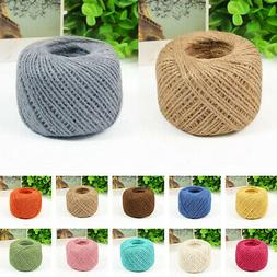 50m/Roll Twine String Cotton Burlap Jute Cord Wire For Gift