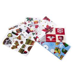 6pcs PVC Disposable Table Runner Printed Tablecloth Table Co
