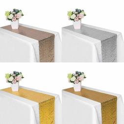 "71"" 108"" 118 Wedding Party Sparkle Glitz Sequin Table Runner"