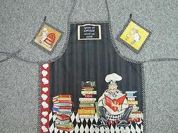 Great New kitchen set handmade apron table runner potholder