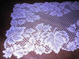 """Heritage Lace Table Runner Autumn Leaves White 88"""" x 15"""" Cot"""