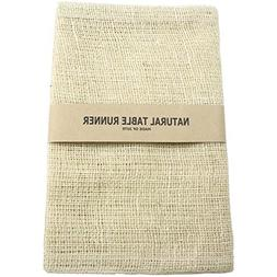 Kel-Toy Burlap Jute Table Runner/Fold and Sew Edge, 14 by 72