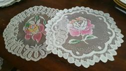 """table runner 2 pc set country style 12"""" inch  NEW"""