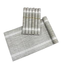 Lavin Placemats With Table Runner Set, Set of 6 Placemats, W