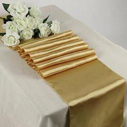MDS Pack Of 10 Wedding 12 x 108 inch Satin Table Runner Banq