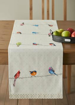 Maison d' Hermine Birdies on Wire 100% Cotton Table Runner 1