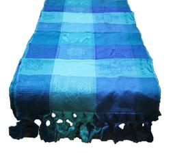 Mexican Mayan Table Runner Colorful Engraved Designs Lightwe