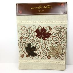 Nantucket Fall Leaves Table Runner Embroidered Embellished D