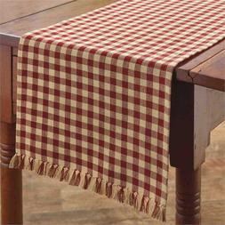 "Park Designs Country Red & Tan Check 13""x36"" Table Runner -"