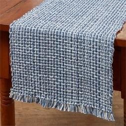 "Park Designs ""Tweed - Denim"" 36""L Table Runner - Navy, Blue,"