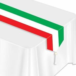 Printed Red, White & Green Table Runner Party Accessory