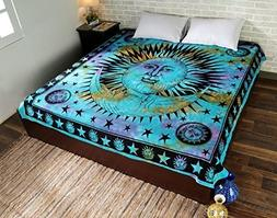 Psychedelic Celestial Indian Sun Hippie Hippy Tapestry Wall