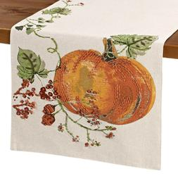 Pumpkin Berries 108 Inch Table Runner