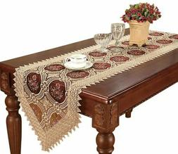 Simhomsen Burgundy Lace Table Runner And Scarves 16 by 108 I